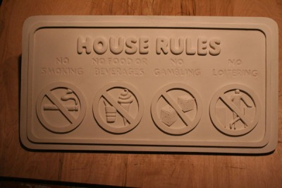 House Rules...in wood!