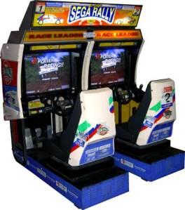 Sega Rally twin cabinet