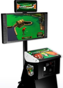 The Power Putt cabinet breaks away from the usual design for ITs cabs