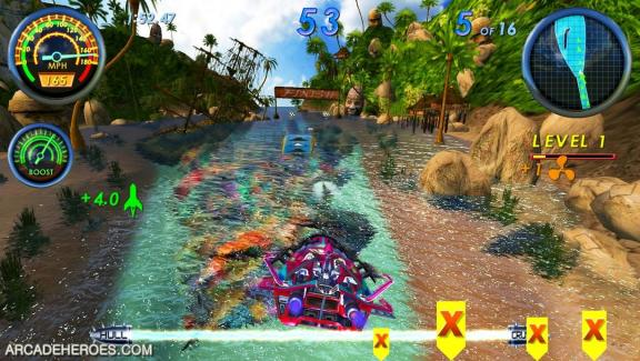 Arcade Heroes New boat racing game by Raw Thrills' and the